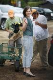 Milla Jovovich and Mr. Bones Pumpkin Patch