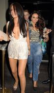 Jesy Nelson Celebrities outside Movida nightclub London, England