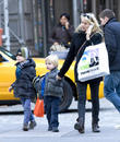 Naomi Watts, Samuel, Sasha, New York City