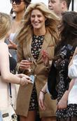 Francesca 'Cheska' Hull talks to fans as she...