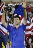 novak djokovic of serbia lifts the runner s up awar