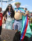 Queen Mermaid Anabella Sciorra and Neptune Jackie Martling...