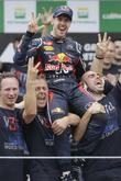 World Champion, D, Sebastian Vettel, Germany, Red Bull Racing Renault, Team, Celebration and Brazilian Grand Prix