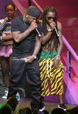 Birdman and Lil Wayne performing live on the...