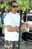Nicko McBrain performs at a welcome home party...