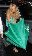 Lauren Pope outside Nobu restaurant London, England