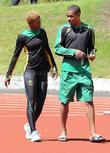 Latoya Greaves and Warren Weir,  Jamaican track...