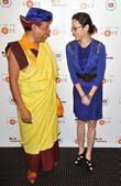 gyalwang drukpa and michelle yeoh pad yatra a green