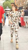 Paloma Faith is seen walking through Leicester Square...
