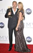 Kevin Costner, Christine Baumgartner and Emmy Awards