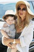 Rachel Zoe and her son Skyler Berman out...