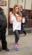 Katie Price Sport Relief celebrities outside the BBC...