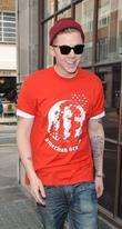 Professor Green Sport Relief celebrities outside the BBC...