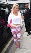 Coco Austin at the BBC Radio 2 studios...