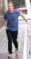 robert webb arriving at the bbc radio 1 studios lon