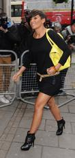 Frankie Sandford  outside the BBC Radio 1...