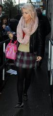 Amelia Lily leaves the BBC Radio 1 Studios...
