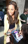 Rochelle Wiseman f The Saturdays  outside the...