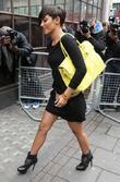 Frankie Sandford of The Saturdays  outside the...