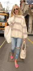 Fearne Cotton outside the BBC Radio 1 studios...