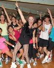 Richard Simmons hosts a workout session at Simmons...