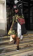 Melissa Forde leaves her hotel to accompany Rihanna...