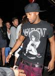 Oritse Williams of JLS leaving the Rose Club...