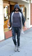 Russell Brand leaves Roxberry Cafe in Beverly Hills....