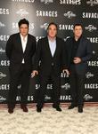 John Travolta, Benicio Del Toro and Oliver Stone