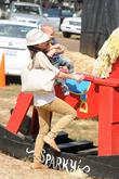 Selma Blair, Arthur Saint Bleick, Mr. Bones Pumpkin Patch, Los Angeles, California