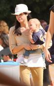 Selma Blair and her young son Arthur Saint...