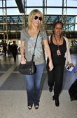 Shakira arrives at LAX airport dressed in jeans...