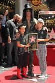 Slash, Emilio and Star On The Hollywood Walk Of Fame