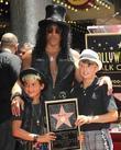 Slash, Emilio and Star On The Hollywood Walk Of Fame