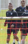 Robbie Williams and Jason Isaacs