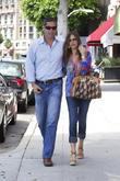 Sofia Vergara and fiancee Nick Loeb are seen...