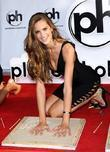 Izabel Goulart the SI Swimsuit Models Handprint Ceremony...