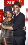 Tonya Pinkins and Wood Harris Broadway opening night...