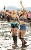 girls dancing in the mud t in the park music festiv