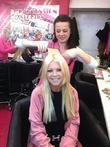 hollywood actress tara reid stops by the hairspray