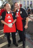 Officers Steve Sambar, Marco Lozano and Los Angeles Mission