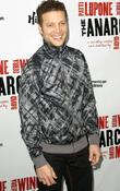 Justin Guarini,  at the Broadway opening night...