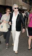 Angela Lansbury arrive for Gore Vidal's 'The Best...
