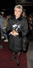 Angela Rippon at The Bodyguard opening night at...