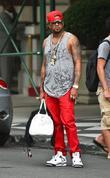 the-dream seen leaving his hotel in midtown manhatt