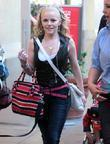 Hollie Cavanagh shops at The Grove in Hollywood...