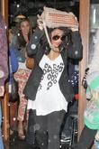 Vanessa White The Saturdays are seen leaving The...