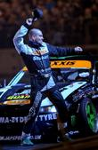 shane lynch (boyzone) with his stobart drifting car
