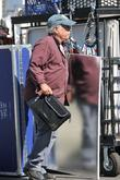 richard dreyfuss arrives on the movie set of very g