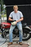 Boyd Holbrook on the set of his new...
